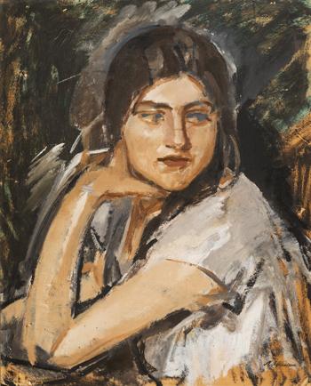 Михаил Шемякин Портрет девушки. Кира. 1925