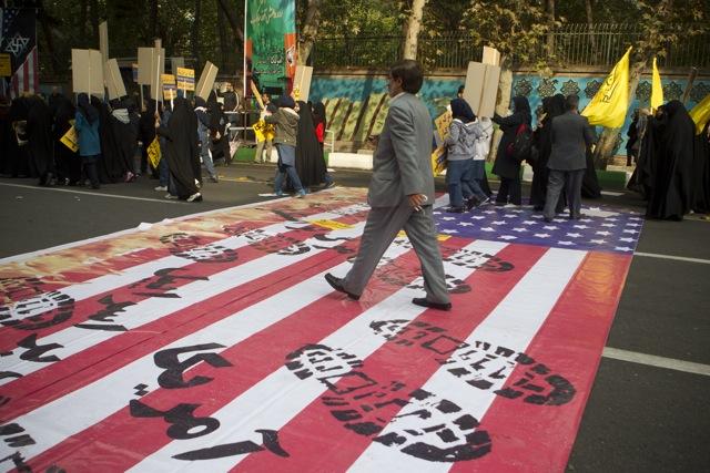 В Иране ежегодно проходят митинги посвященные захвату посольства США в 1979 году