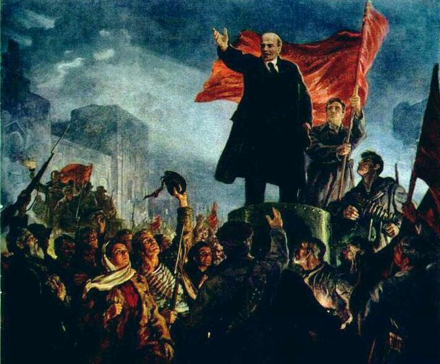 И.М.Тоилдзе. «Призыв вождя». Фрагмент картины