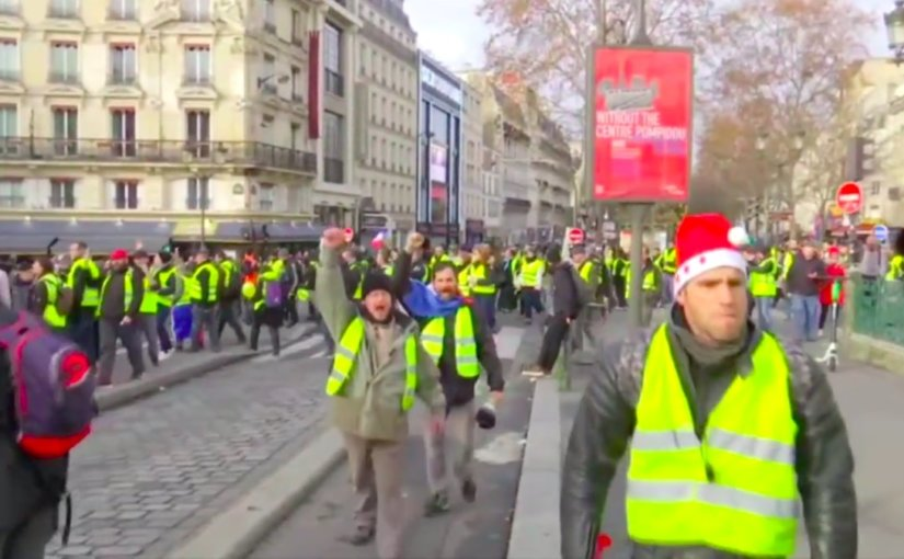 Сотни «желтых жилетов» собрались в центре Парижа