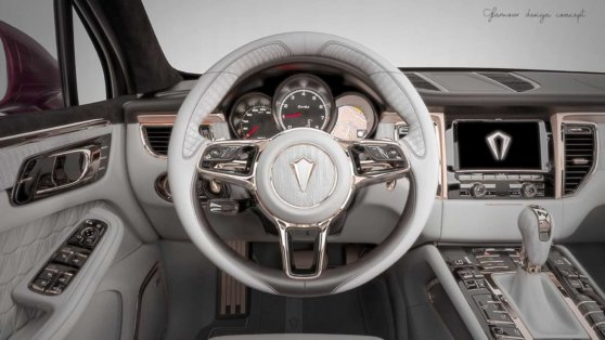 Кроссовер Porsche Macan получил роскошный «золотой» салон