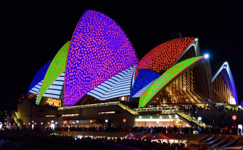 Световое шоу в Австралии