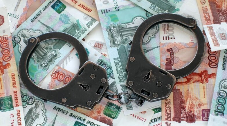 Коррупция, взятка, деньги, рубли, наручники
