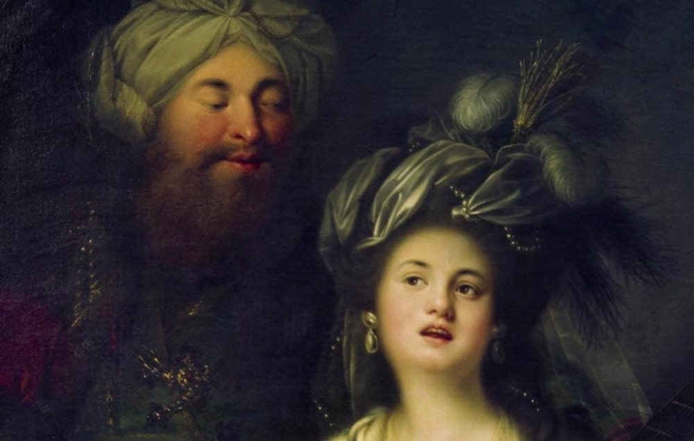 """Фрагмент картины """"Роксолана и Сулейман"""", Энтони Хинкель, 1780"""