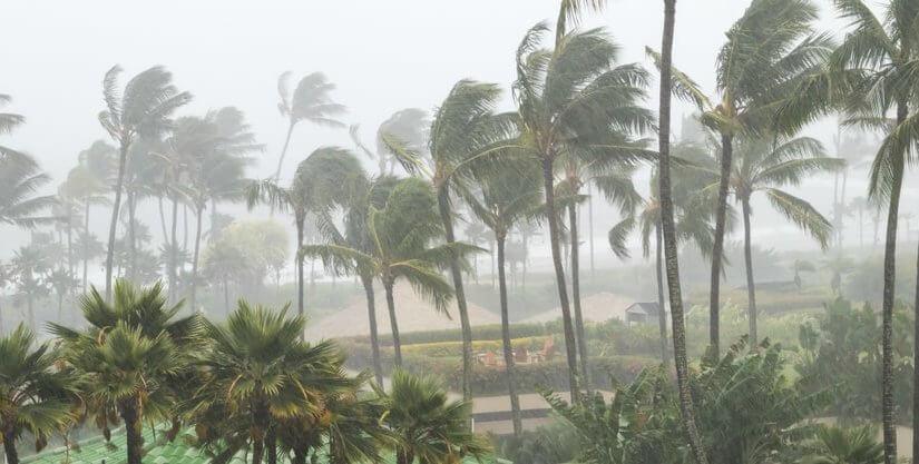 В туристические провинции Тайланда пришел ураган