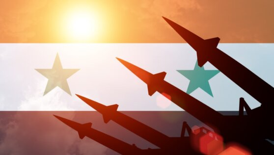 В Сети появилось видео отражения ракетной атаки силами сирийской ПВО
