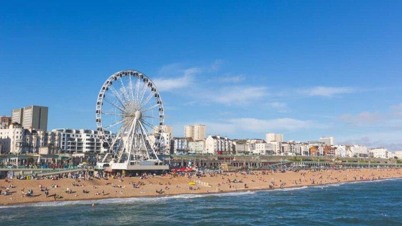 Brighton England, пляж Брайтон Англия