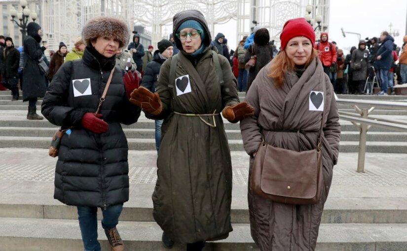 «Марш разгневанных матерей» прошел в нескольких городах России
