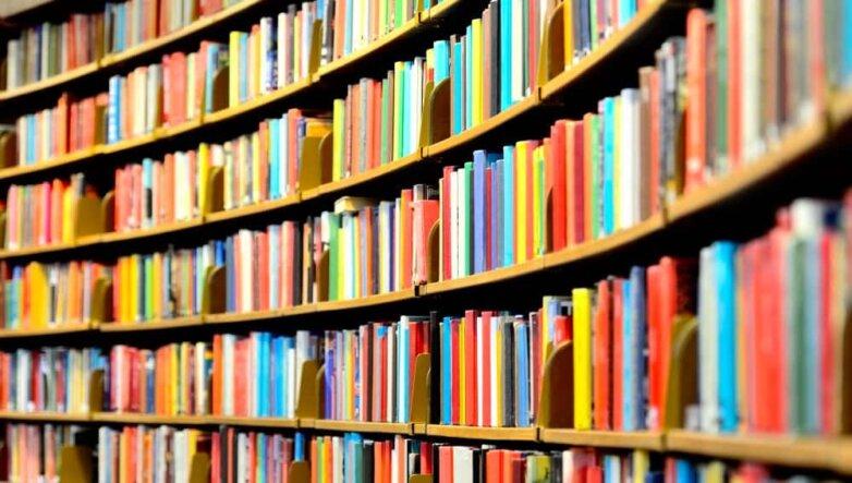 книги, учебники, книжная полка
