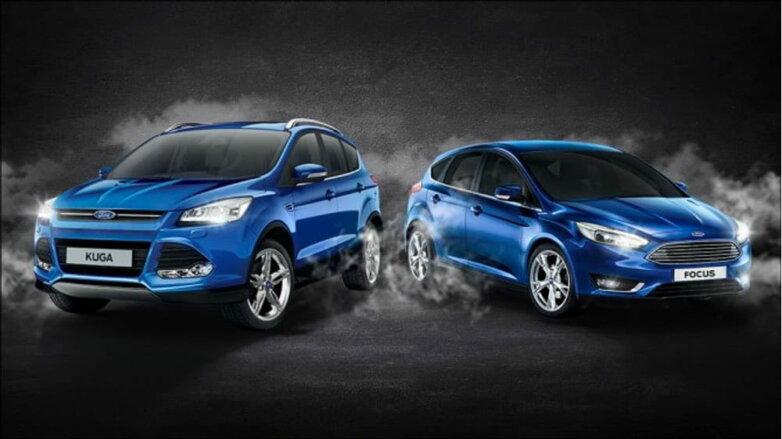Ford Kuga и Ford Focus, машина, автомобиль