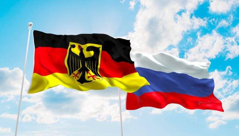 Флаги Германии и России (ФРГ и РФ)