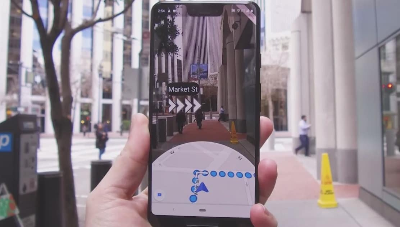 Google Maps с режимом дополненной реальности