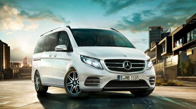 Новый Mercedes-Benz V-класса, машина, автомобиль
