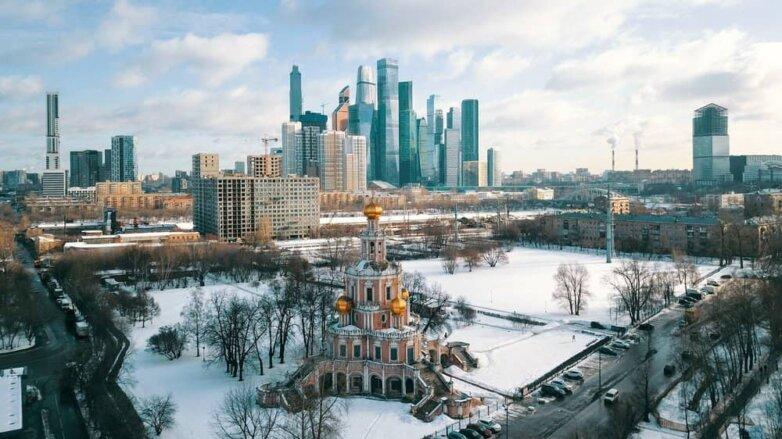 Зима, Москва