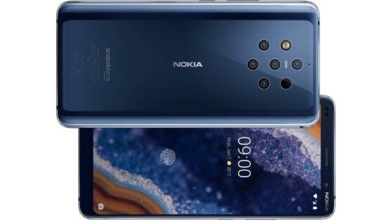 В России стартовали продажи пятикамерного смартфона Nokia 9 PureView