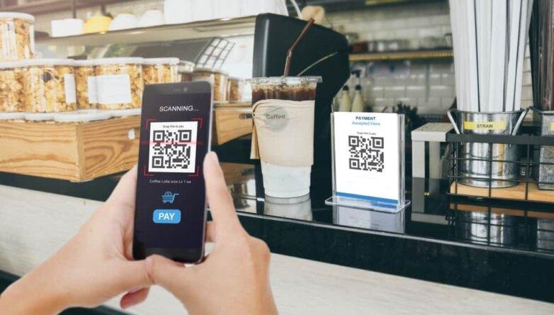QR code, код, покупка, платёж, сканирование
