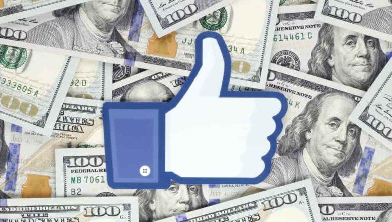 Facebook, Фейсбук, like, лайк, доллары, деньги