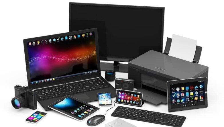 Гаджеты, телефон, ноутбук, планшет
