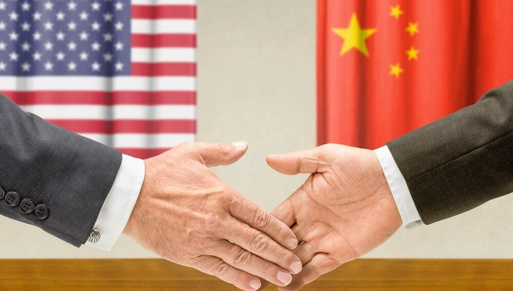 США, Китай, КНР, договор, согласие, рукопожатие