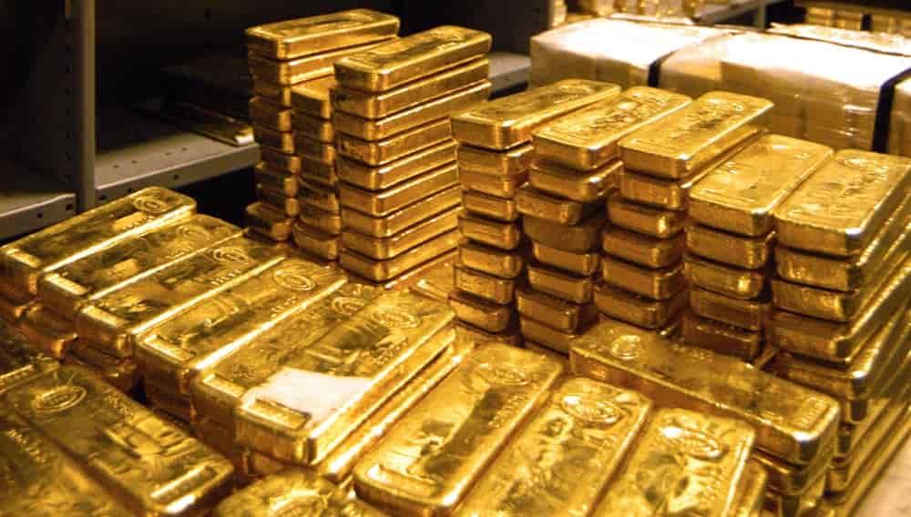 Золотые слитки золотой запас