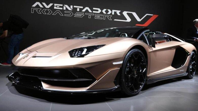Lamborghini Aventador SVJ Roadster, машина, автомобиль