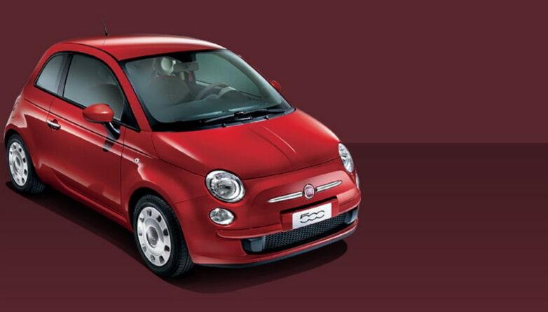 Fiat 500, машина, автомобиль