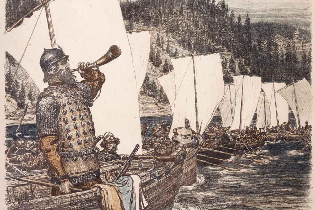 Картинка поход ермака на сибирь