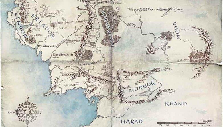 Карта Средиземья из сериала «Властелин колец»twitter / LOTRonPrime