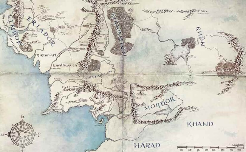 Amazon показал карты Средиземья к своему сериалу по «Властелину колец»
