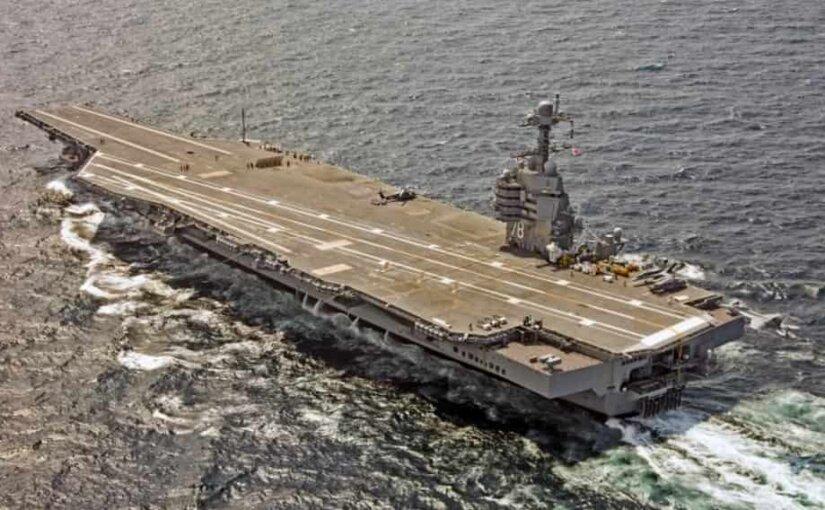 Авианосец ВМС США «Джеральд Форд» сломался во время испытаний