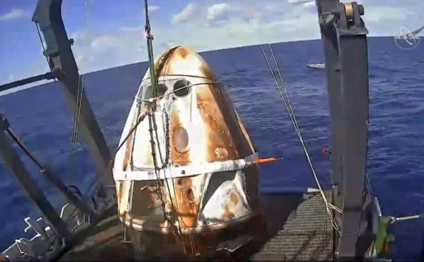 Космический корабль Илона Маска Dragon-2 благополучно вернулся на Землю
