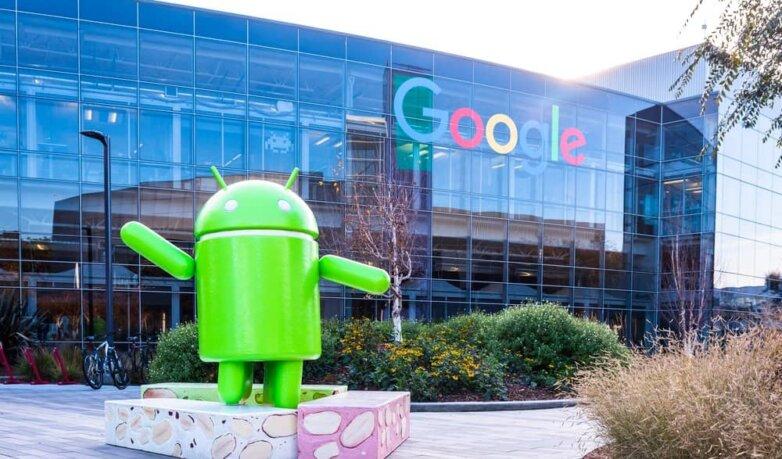 Штаб квартира Google в Маунтин Вью, Android