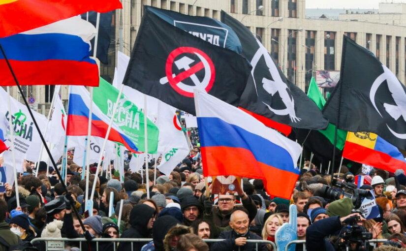 Митинги «Против изоляции рунета» прошли в Москве, Хабаровске и Воронеже