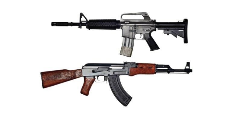 АК-47, M-16, автомат, винтовка, огнестрельное оружие