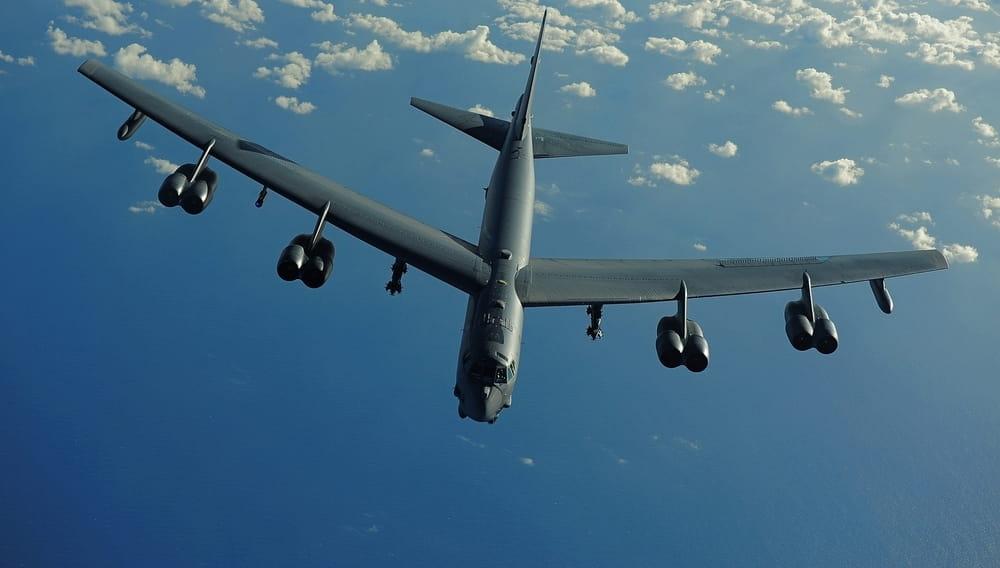 Бомбардировщик Boeing B-52H ВВС США, самолёт, армия