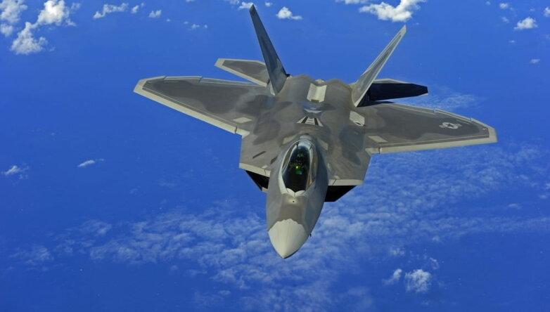 Истребитель F-22 Raptor, самолёт, ВВС США, армия