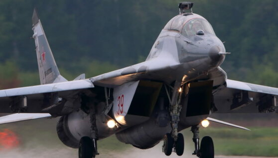 В Польше упал истребитель МиГ-29