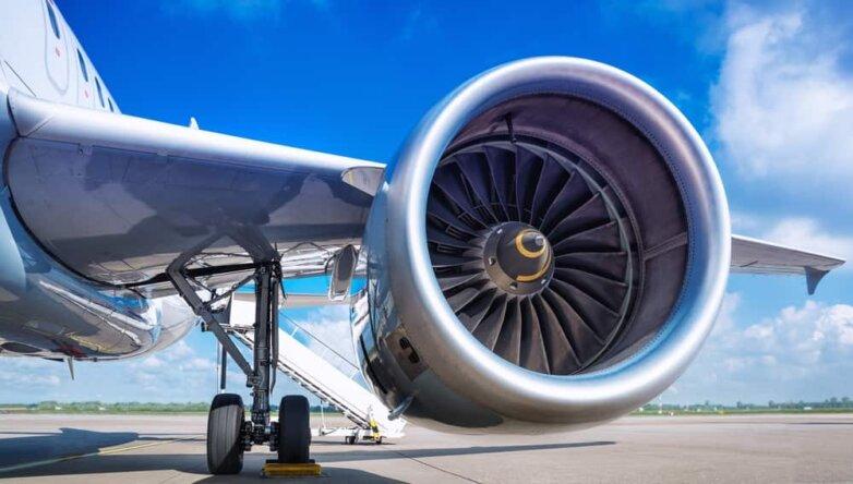 Самолёт, турбина
