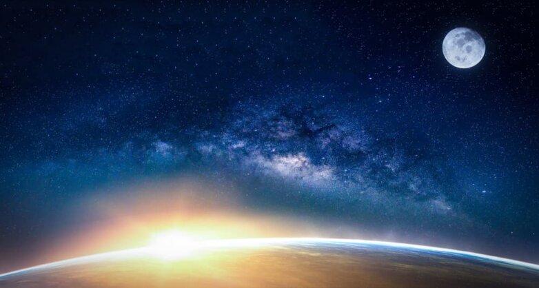 Млечный Путь, планета, Земля, Луна