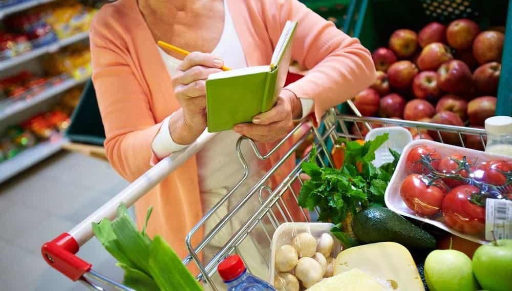 Магазин, супермаркет, покупатель, корзина, тележка, продукты