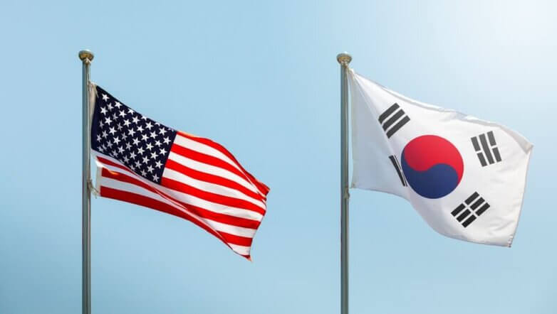 США, Южная Корея, флаги