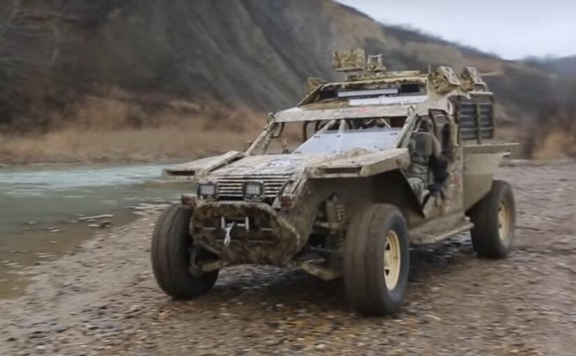 Российский спецназ впервые десантировался с боевыми багги в горах Кавказа