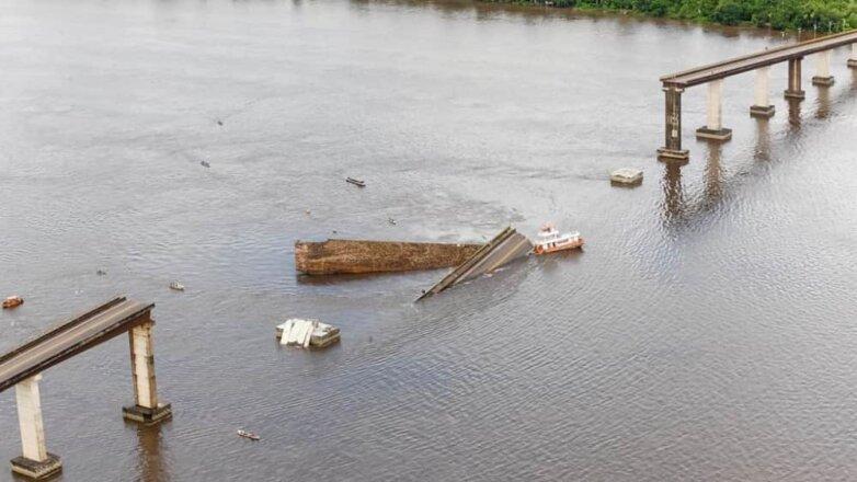 Судно обрушило мост в Бразилии