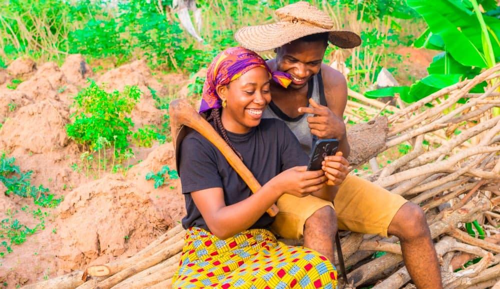 Африканцы смартфон
