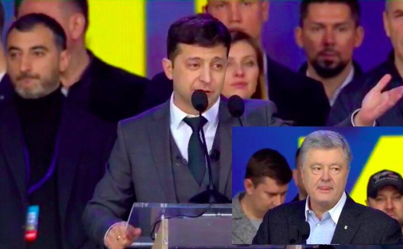 В Киеве завершились дебаты Порошенко и Зеленского