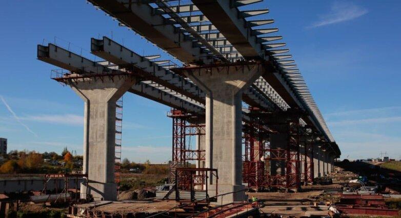 """Строительство моста через реку Ижора на восьмом участке скоростной автомагистрали М11 """"Москва - Санкт-Петербург"""""""