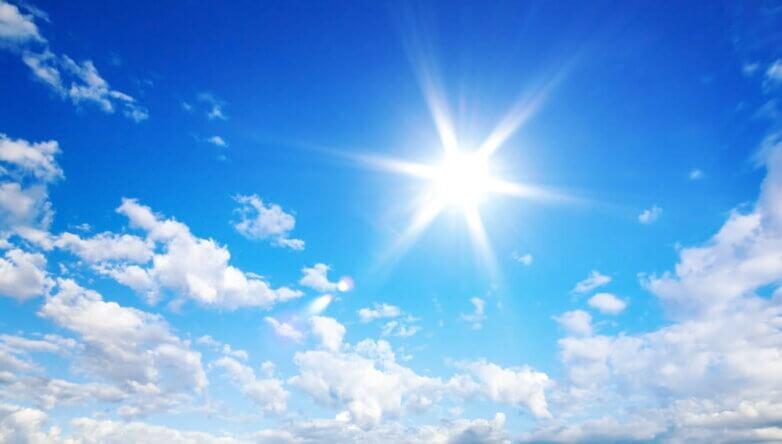 Погода, солнце, облака, небо