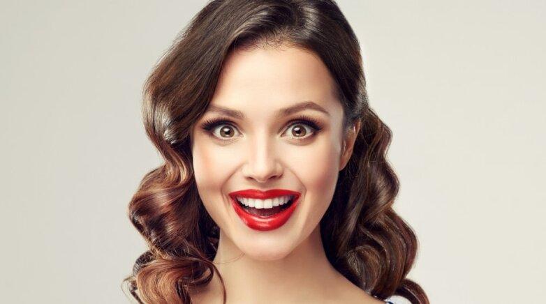 губы девушка улыбка смех