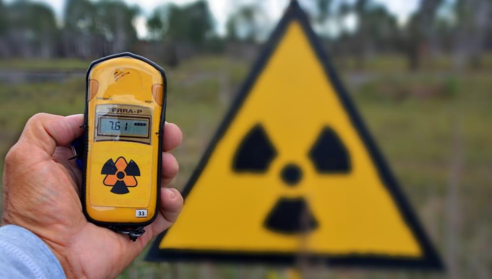 Знак радиоактивной опасности, радиация, заражение