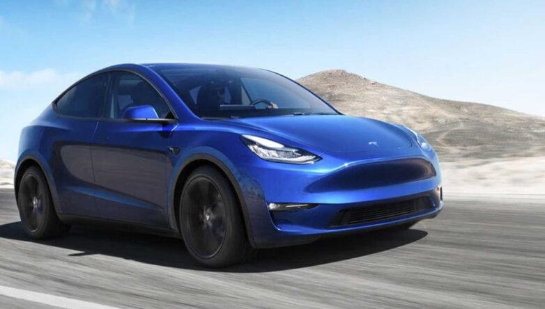 Tesla Model Y, машина, автомобиль